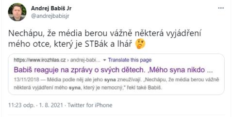 Andrej Babiš junior