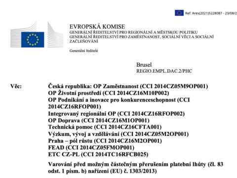 varování EU, střed zájmů Babiš, Agrofert, svěřenské fondy
