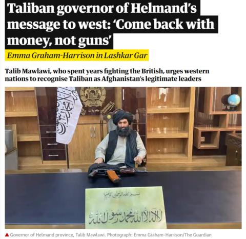 Talib Mawlawi, Taliban, Afghánistán