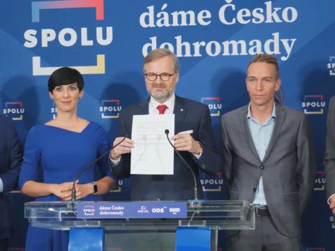 KDU-ČSL, lidovci, memorandum, sestavení vlády, volby 2021, koalice SPOLU, Piráti a STAN, spolupráce demokratických koalic